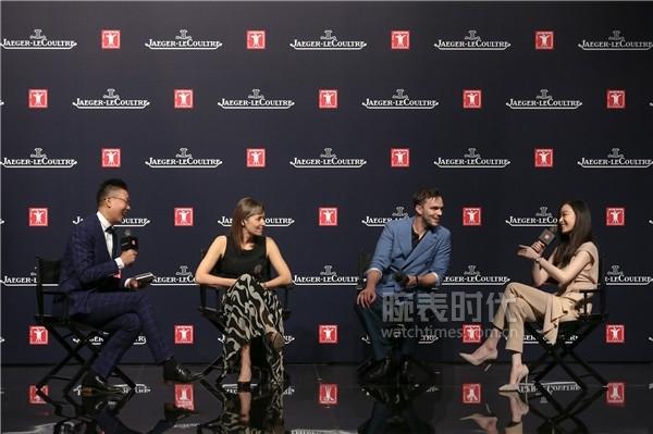 积家全球首席执行官Catherine Rénier女士、积家大使倪妮和英国著名演员尼古拉斯__霍尔特(Nicholas Hoult)就制表艺术与电影修复艺术展开精彩讨论