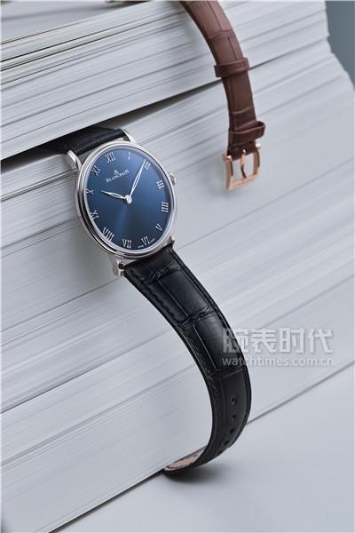 极具人文气息的宝珀V系列君子蓝超薄腕表6605