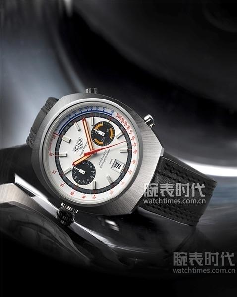 3.1972年推出的110503W型号豪雅蒙特利尔白色款腕表