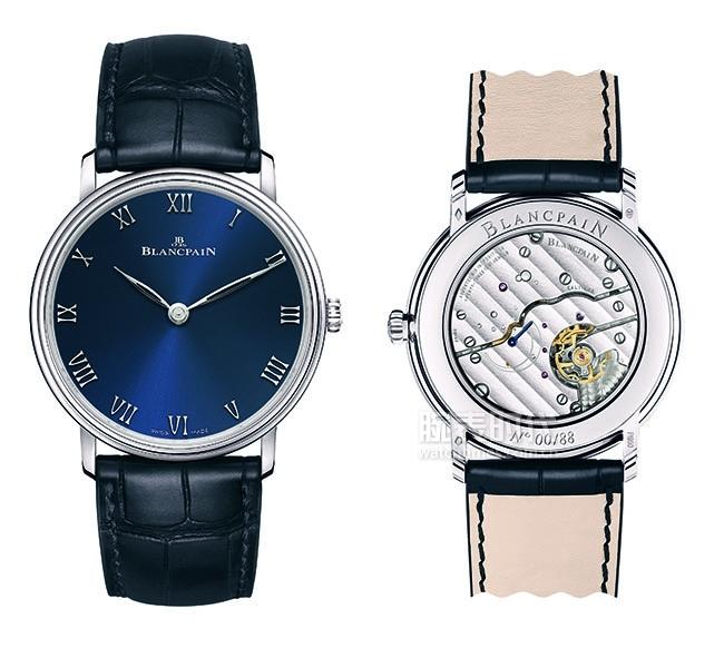 宝珀Villeret经典系列超薄腕表精品店限量款 正面6605-3440-55B