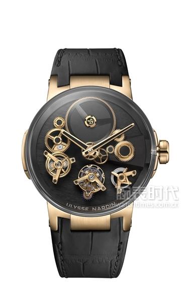 雅典表《经理人自由之轮陀飞轮腕表》玫瑰金款