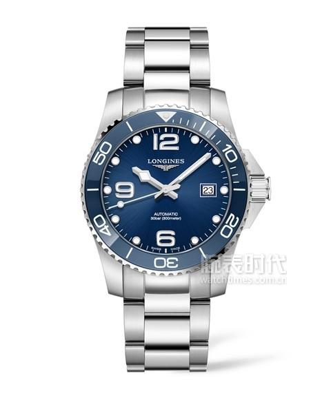 浪琴表康卡斯潛水系列腕表_L3.781.4.96.6