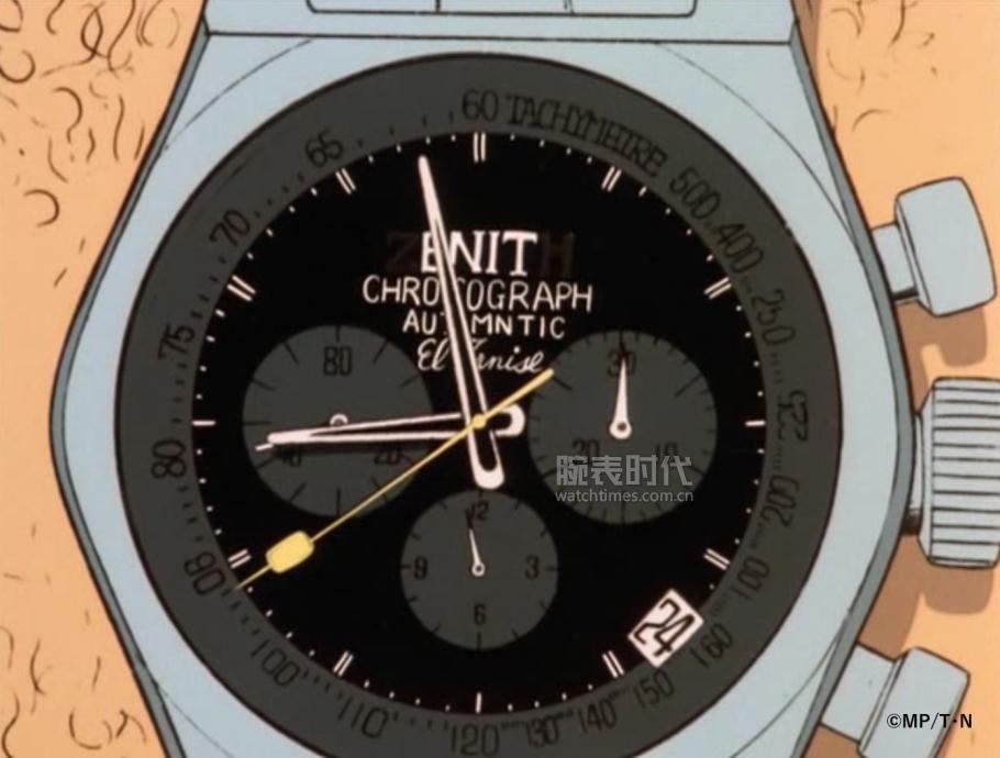 动漫作品《鲁邦三世》中的主要人物次元大介所佩戴腕表以真力时A384腕表为蓝本_02