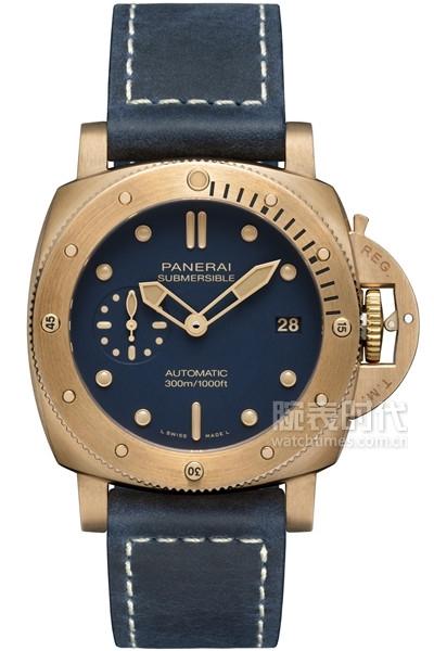 沛纳海Submersible Bronzo Blu Abisso潜行系列青铜腕表(PAM01074)(1)