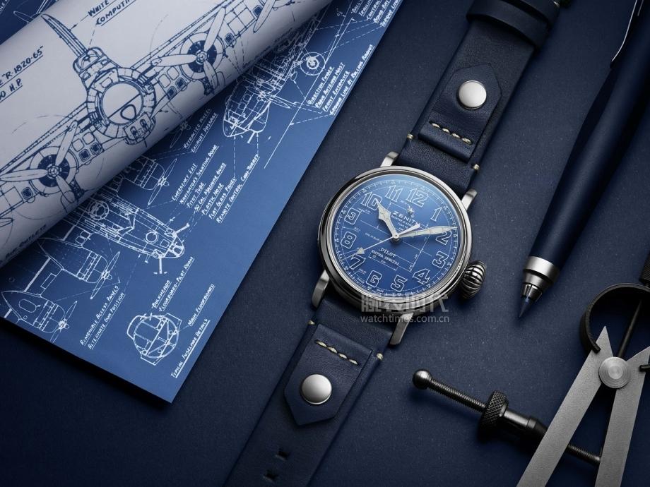 ZENITH真力時全球限量發售全新PILOT飛行員系列TYPE 20 藍圖限量款腕表