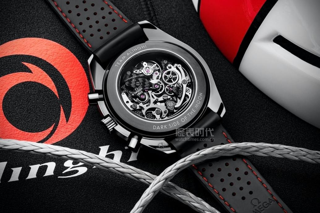 """红与黑,欧米茄超霸系列""""月之暗面""""阿灵基帆船队版腕表"""