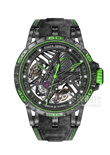 羅杰杜彼Excalibur Aventador S系列腕表(綠色款)