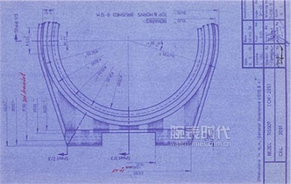图4:天梭PRX系列腕表初代手稿图