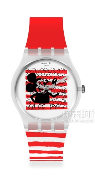 DISNEY MICKEY MOUSE x KEITH HARING COLLECTION by SWATCH 跃动米奇 大图