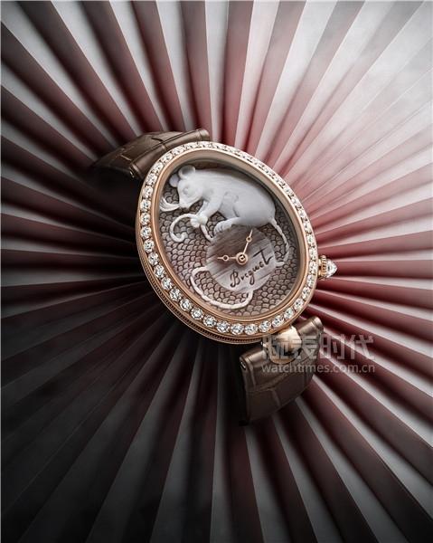 03. 宝玑Reine de Naples那不勒斯王后系列8955贝壳浮雕腕表 (1)