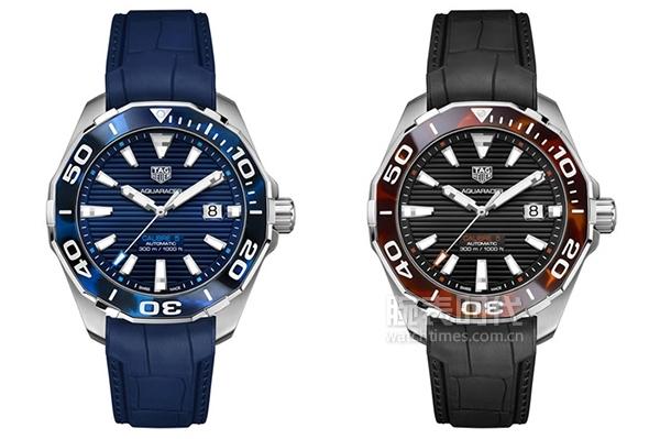 泰格豪雅競潛系列玳瑁紋自動腕表(藍色款)_WAY201P.FT6178
