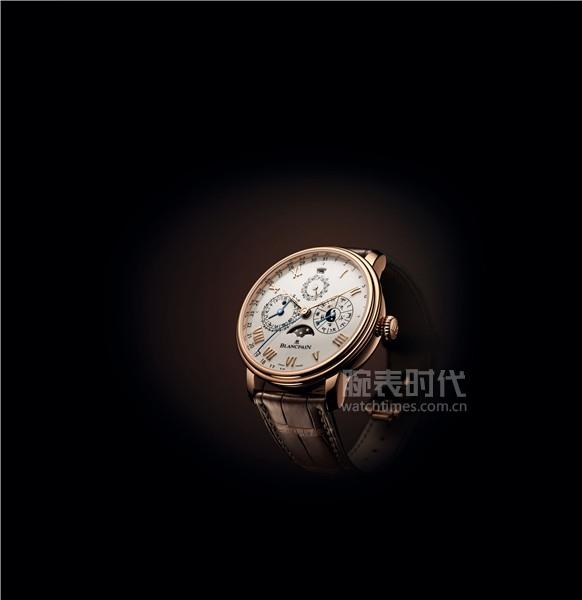 宝珀Blancpain中华年历腕表红金款生肖视窗瑞鼠显示
