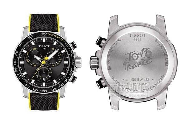 圖5:天梭速敢系列2020環法自行車賽特別款腕表和表后蓋