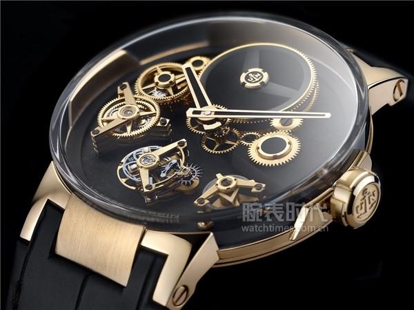 雅典表《经理人自由之轮陀飞轮腕表》玫瑰金款_细节_图3