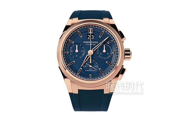 帕瑪強尼通達系列Tondagraph GT玫瑰金藍色盤面腕表