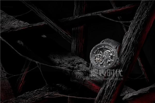罗杰杜彼Excalibur Spider Carbon3碳纤维腕表_情境图1