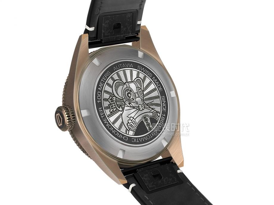 泰格豪雅Autavia系列鼠年特别版腕表-表背