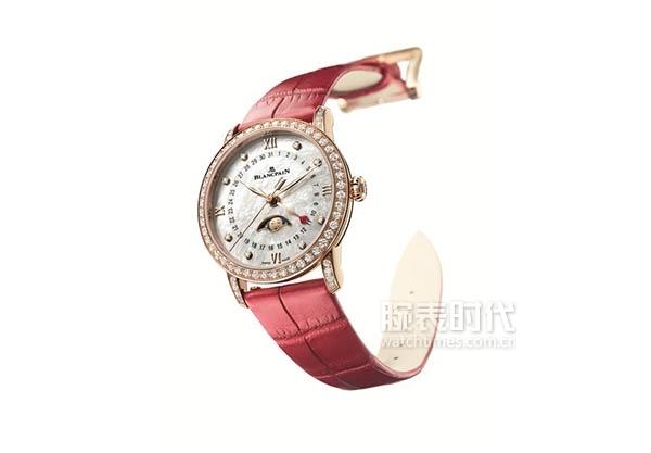 01 宝珀Blancpain月亮美人日期指示情人节限量版腕表
