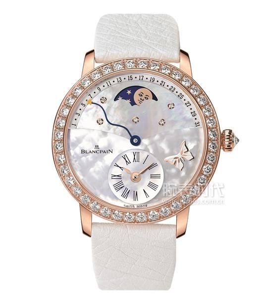 寶珀女裝系列月亮美人偏心日期逆跳腕表3653