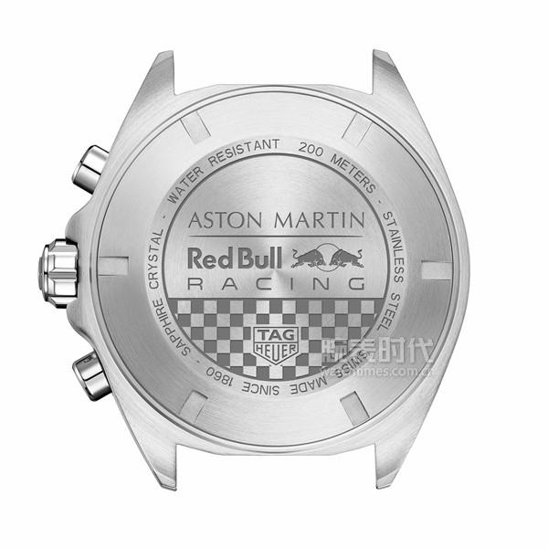 TAG Heuer泰格豪雅F1(Formula 1)系列 阿斯顿·马丁红牛车队特别版腕表_表背图