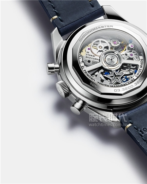 ZENITH真力時CHRONOMASTER Original腕表的機芯整體設計更為時尚通透