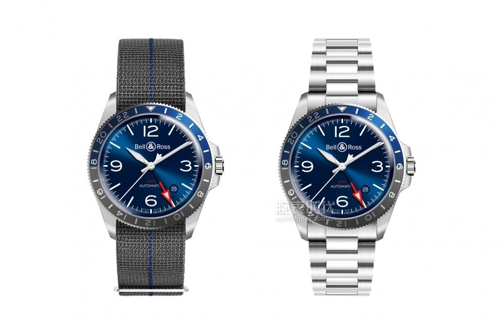 Bell-and-Ross-BRV2-93-GMT-Blue-strap-vs-steel-bracelet- (1)