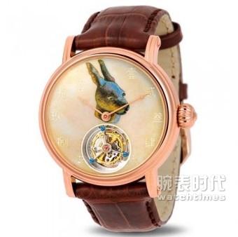 海鸥陀飞轮金表系列H618.862(兔)必发彩票注册送18元_正面