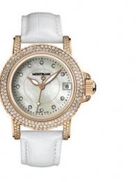万宝龙运动女士镶钻款104711手表