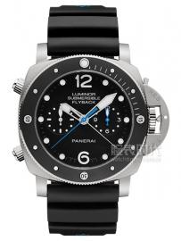 沛纳海 3日动力储存飞返计时自动钛金属腕表