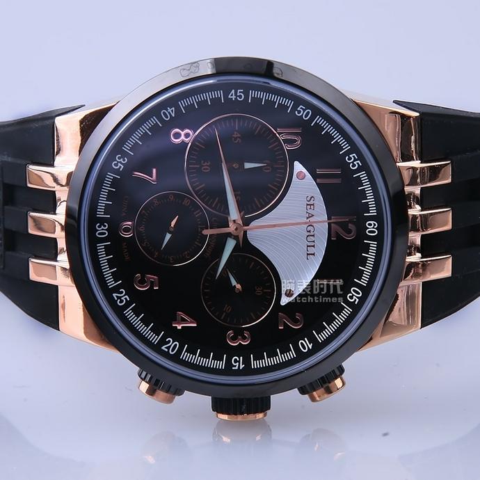 海鸥计时码表系列215.325 (金色)手表