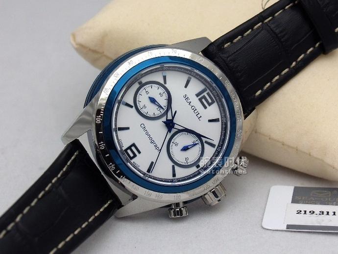 海鸥计时码表系列219.311 (蓝色)手表